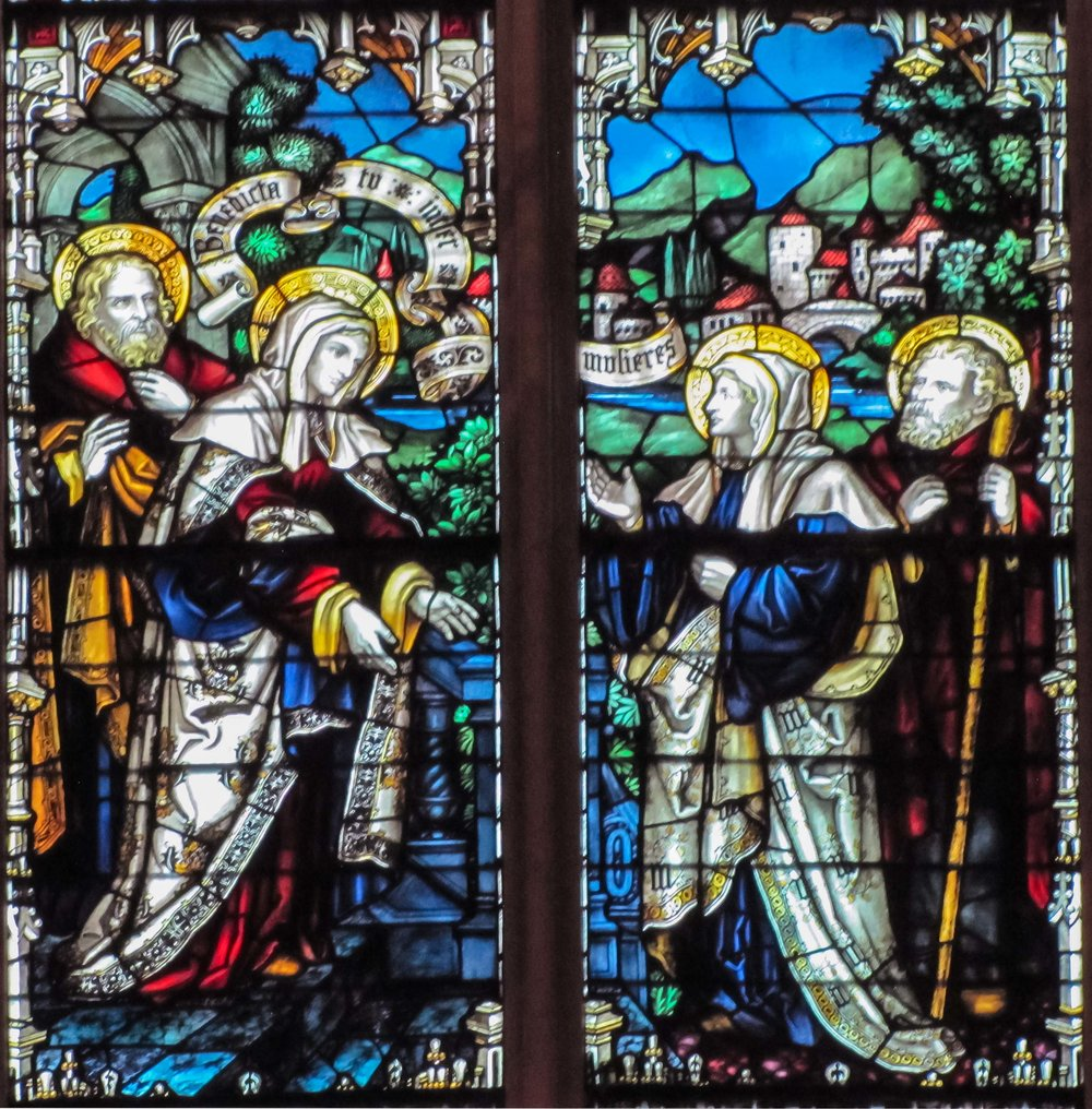 The Visitation window in the Chancel
