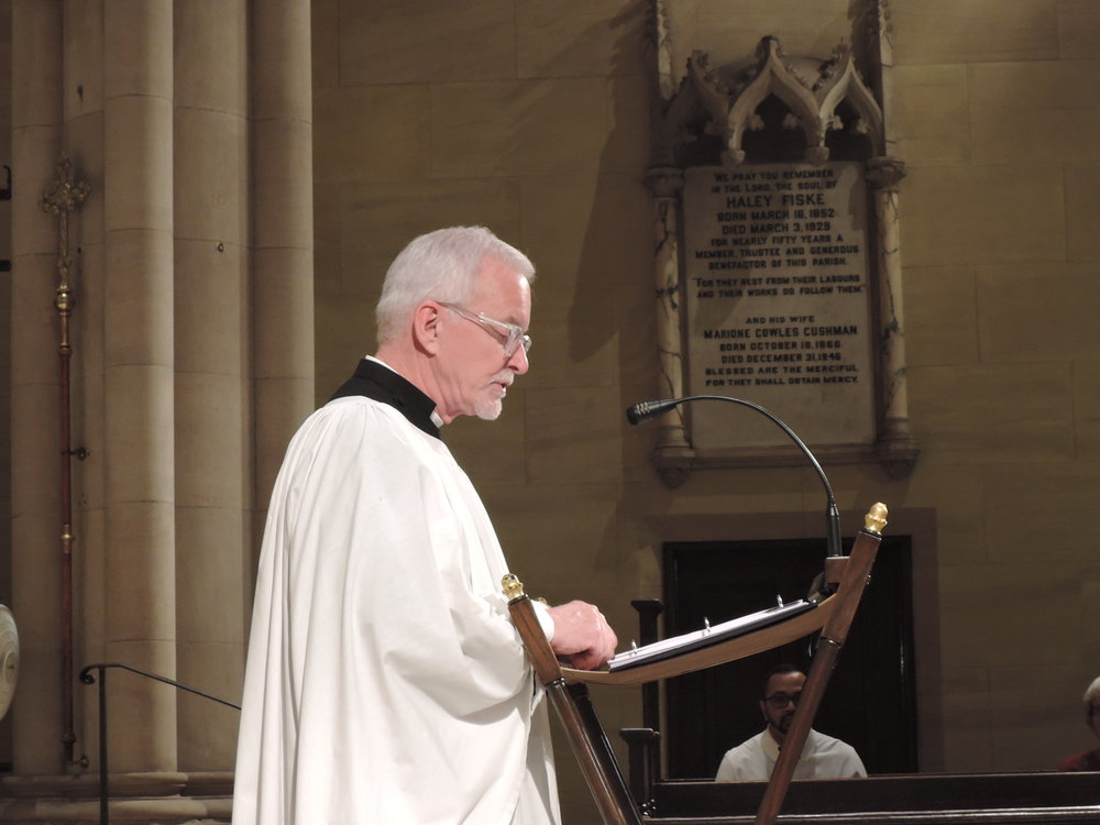 Father Pace was the preacher for Sunday Evensong.