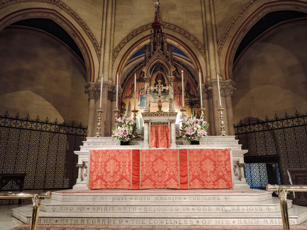 The Altar before Solemn Evensong on the Eve of Ascension Day.