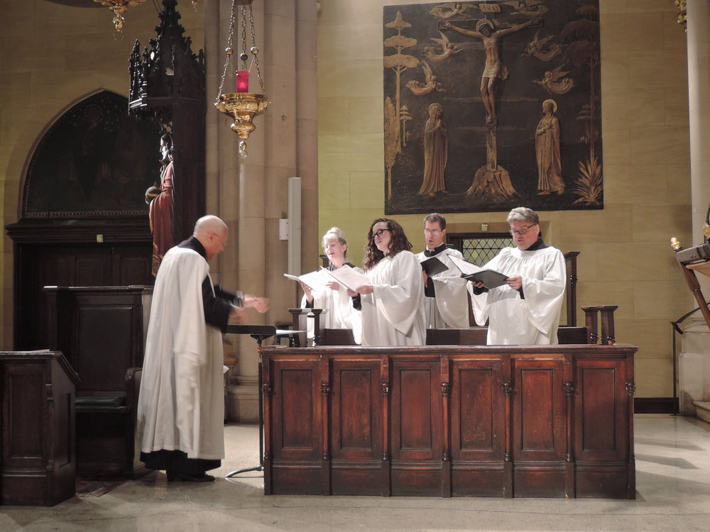 At Evensong on Ascension Eve