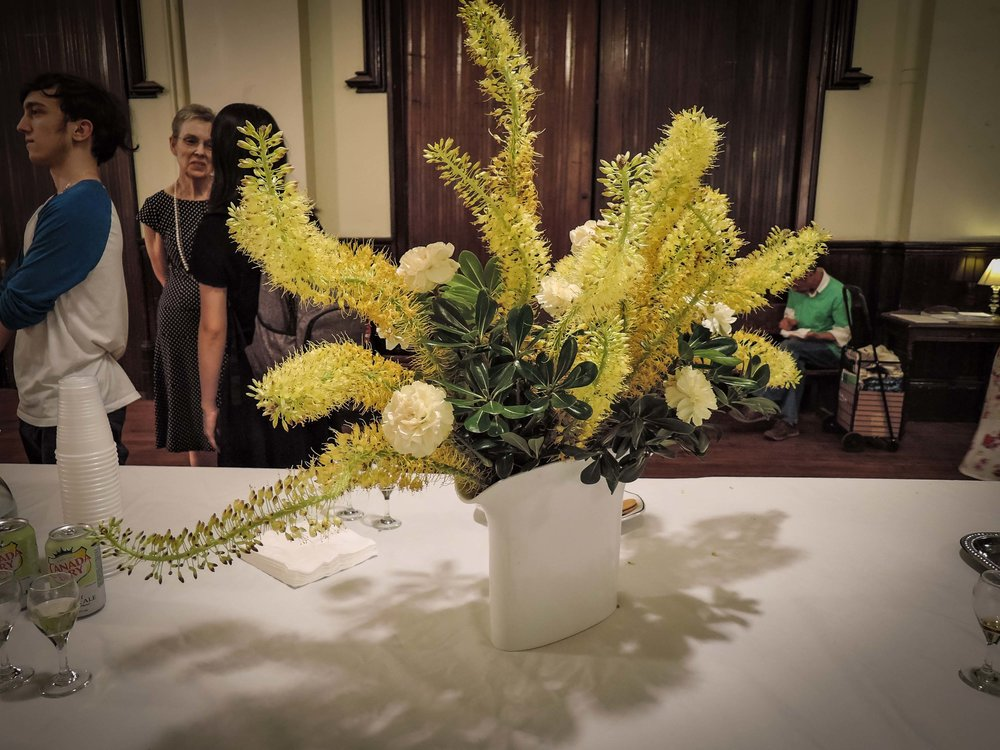 Sunday Flowers in Saint Joseph's Hall after the final Sunday Evensong of the academic year.