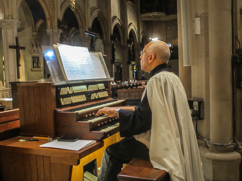 Dr. David Hurd played before the Solemn Mass on Sunday, July 9, 2017.