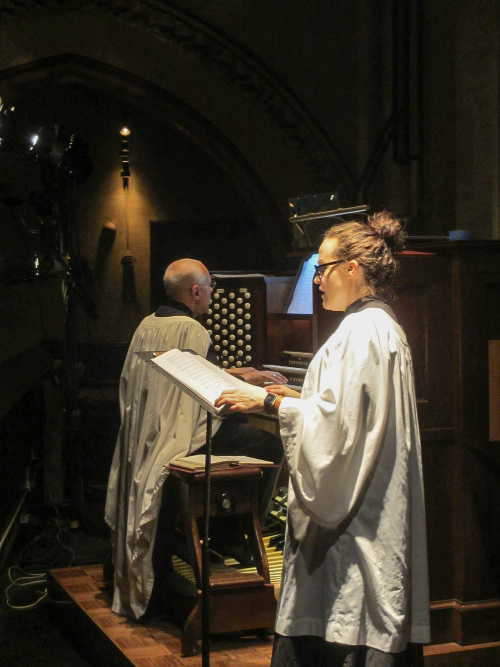 Sharon Harms was cantor for the Solemn Mass.