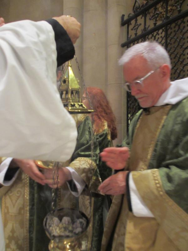Father Jim Pace was celebrant and preacher for the Solemn Mass.