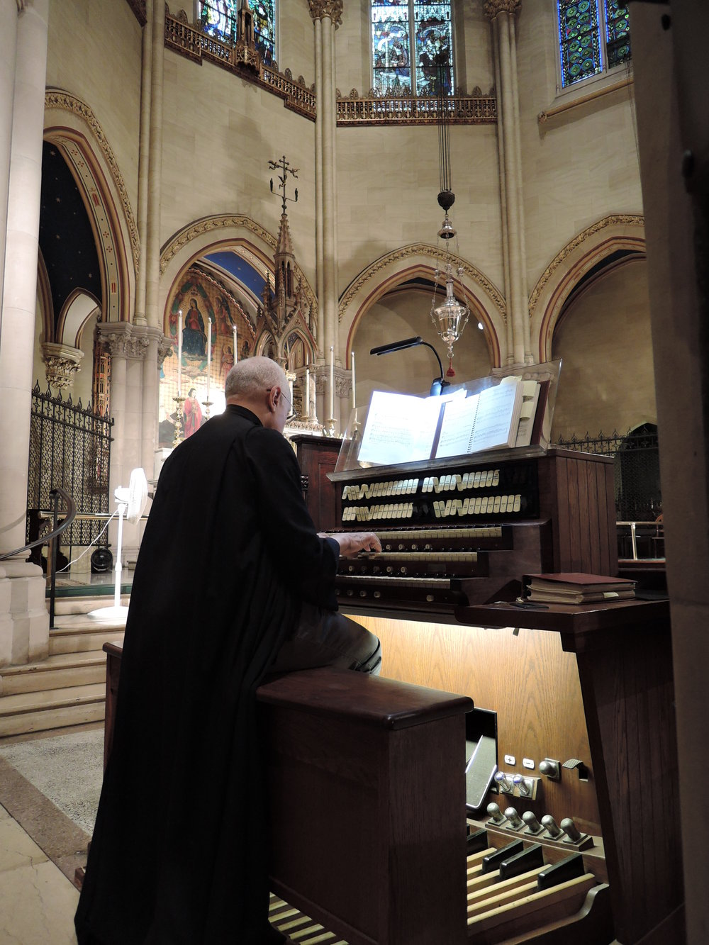 Dr. David Hurd at the Sung Mass on Wednesday