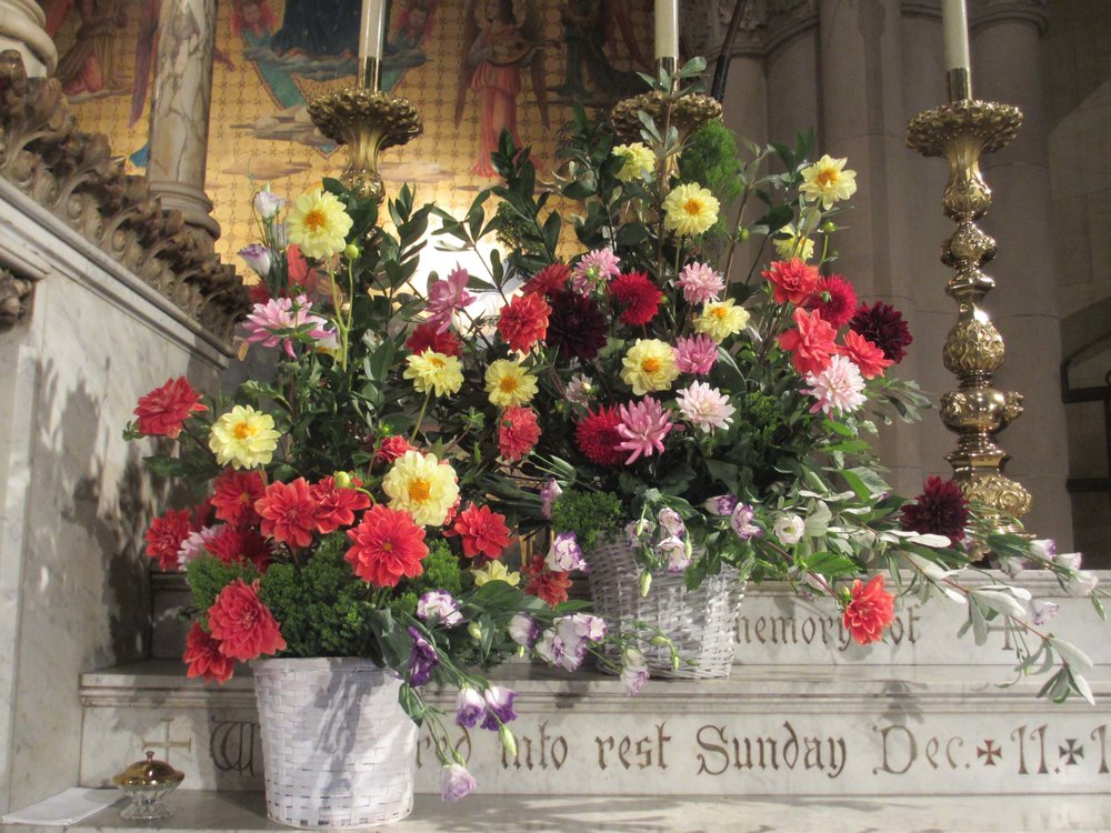 Altar flowers last Sunday Arrangement by Peter Ruane