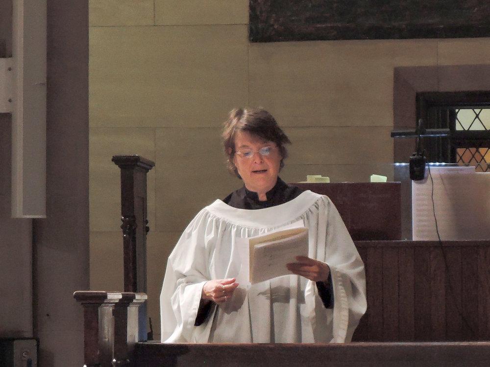 Sunday's cantor Ruth Cunningham