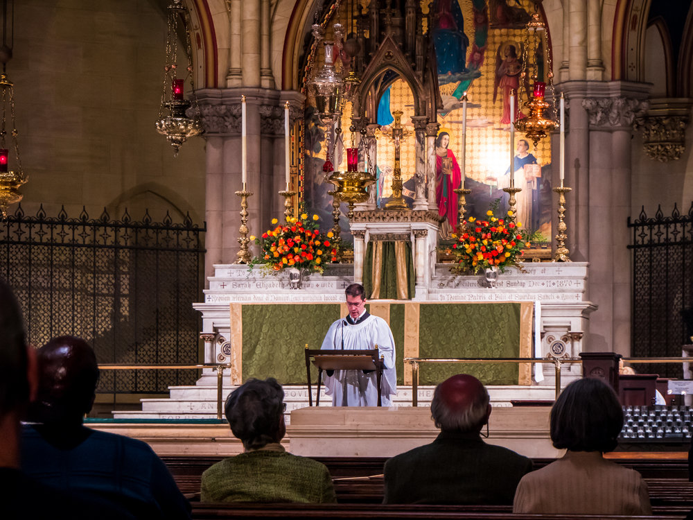 Mark Risinger was lector for the Solemn Mass.   Photo by @rgomezstudios