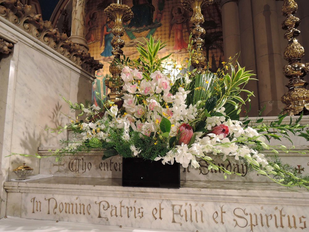 The flowers for Thanksgiving were arranged by Rick Austill. Photo by Sister Monica Clare, C.S.J.B.