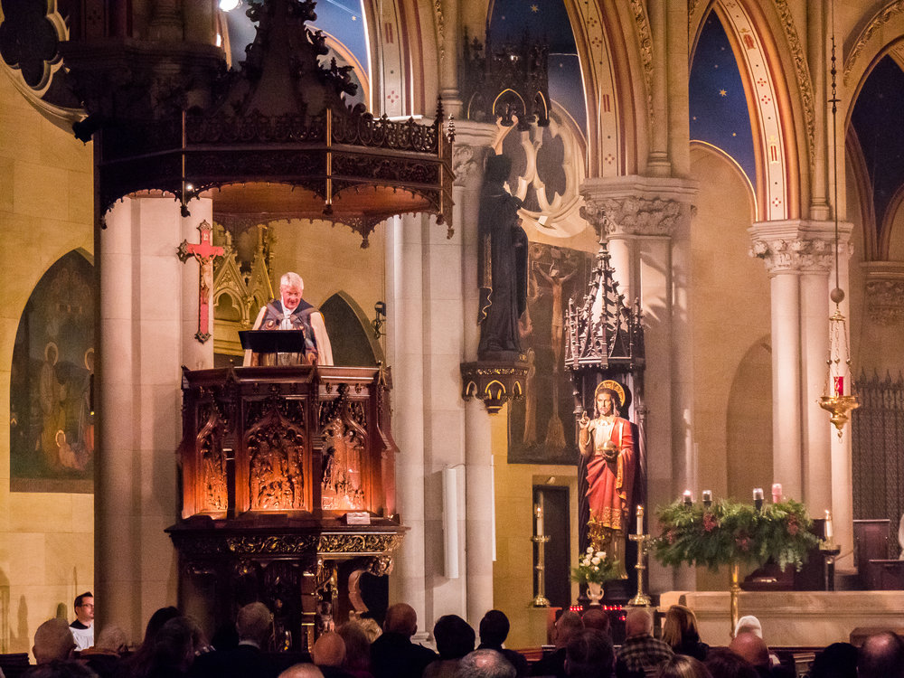 Bishop Griswold was preacher for the patronal feast, December 8, The Conception of the Blessed Virgin Mary  Photo by Ricardo Gomez