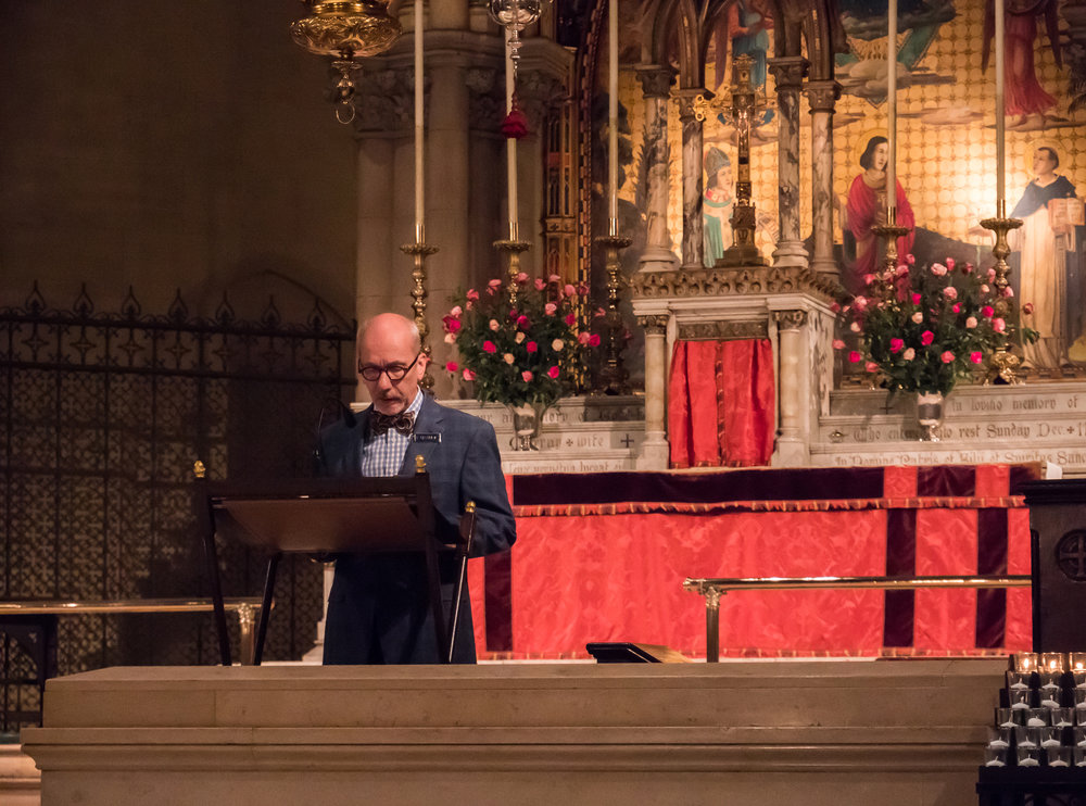Steve Potanovic was reader and an usher at Solemn Mass on the Third Sunday of Advent.    Photo by Ricardo Gomez