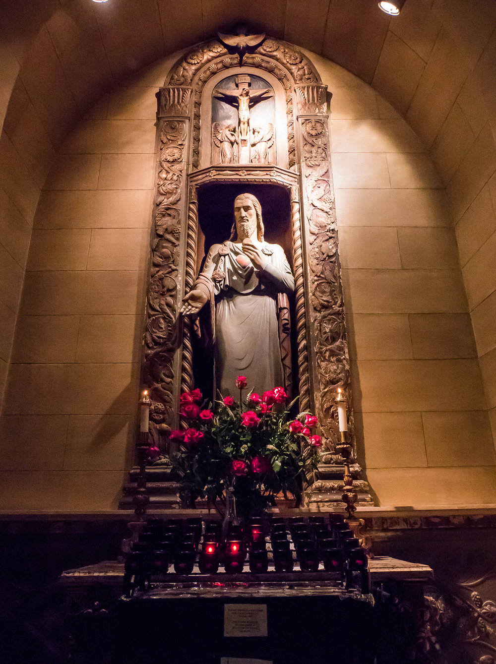 The Shrine of the Sacred Heart        Statue by Lee Lawrie (1877-1963)     Photo by Ricardo Gomez