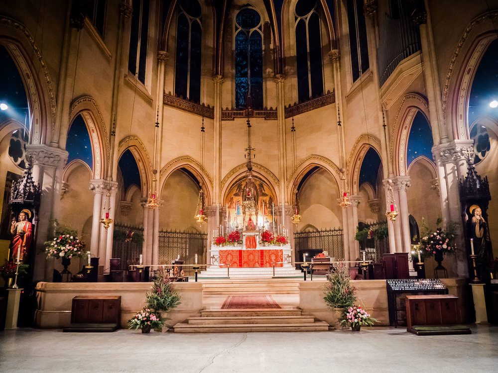The chancel before the beginning of the Christmas Eve services Photo by Ricardo Gomez