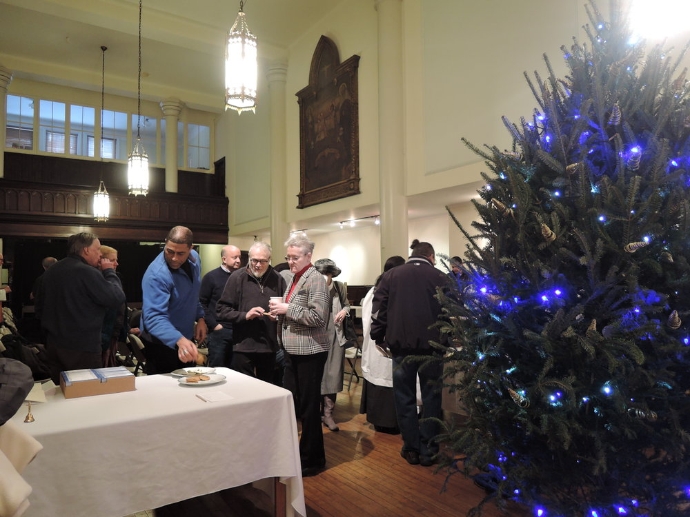 Refreshments after Mass on New Year's Day.  Photo by Sr. Monica Clare, C.S.J.B.