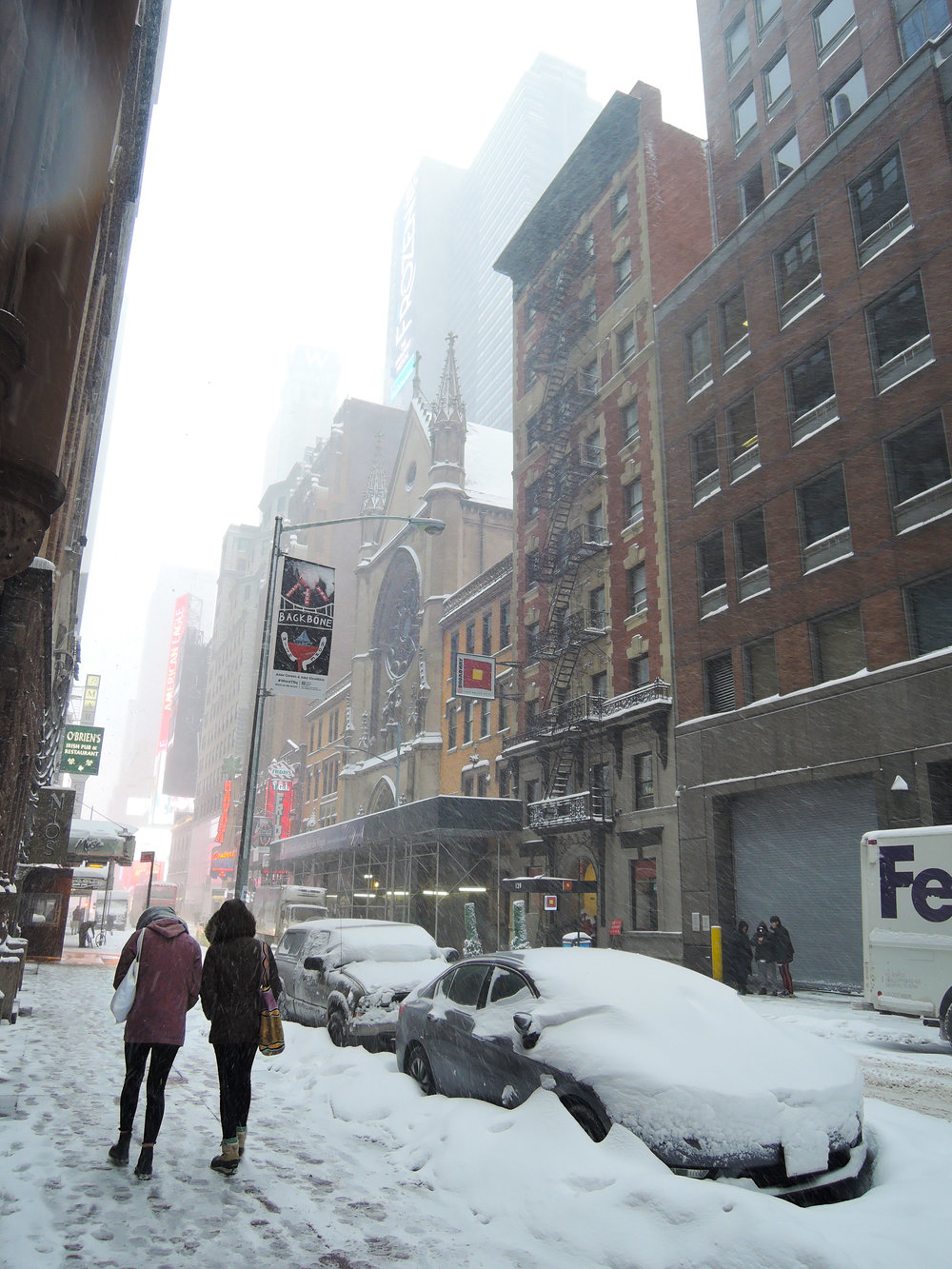 West 46th Street, January 4, 2018 Photo by Sr. Monica Clare, C.S.J.B.