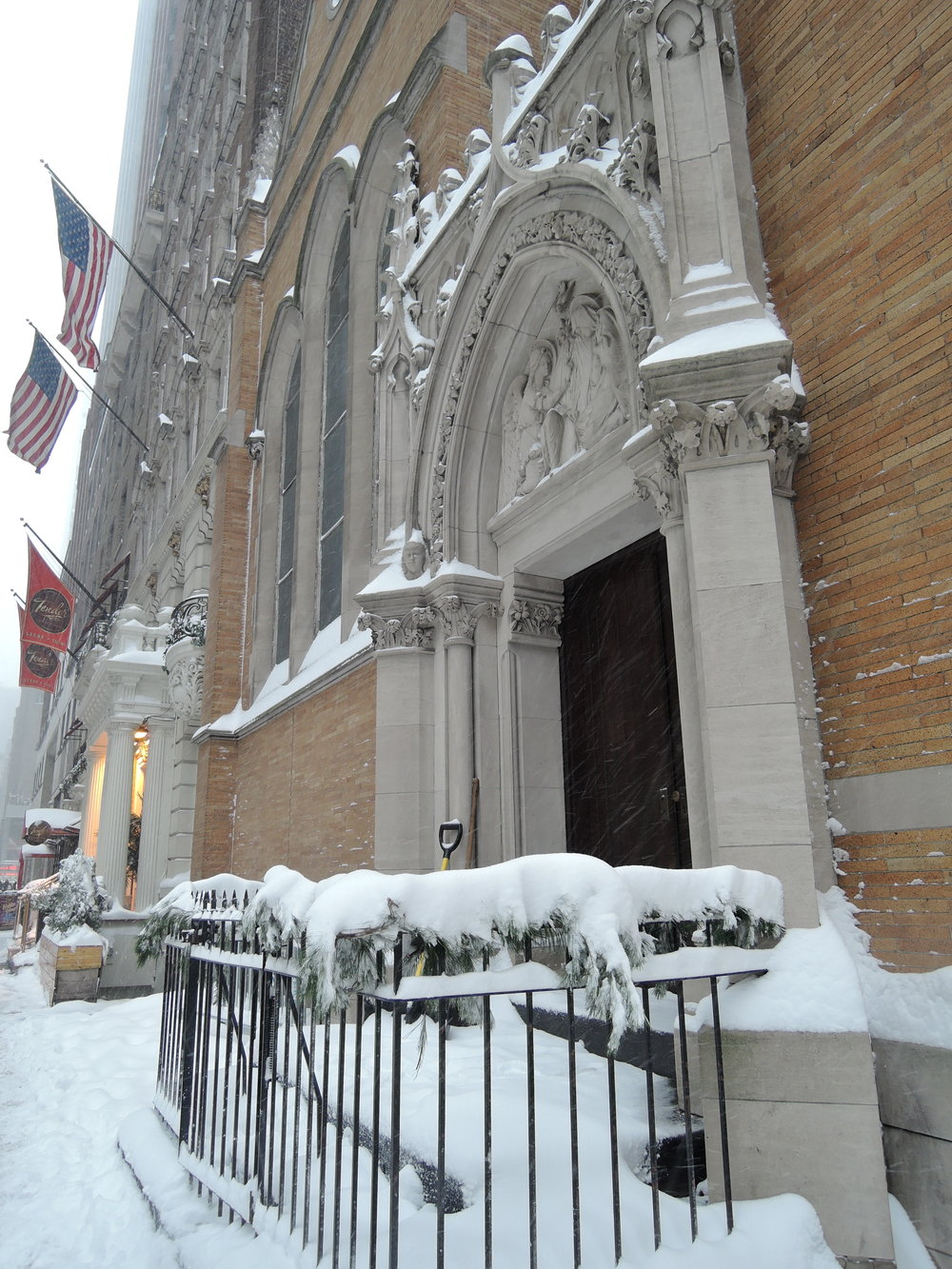 It snowed in the city on Thursday, January 4. Photo by Sr. Monica Clare, C.S.J.B.