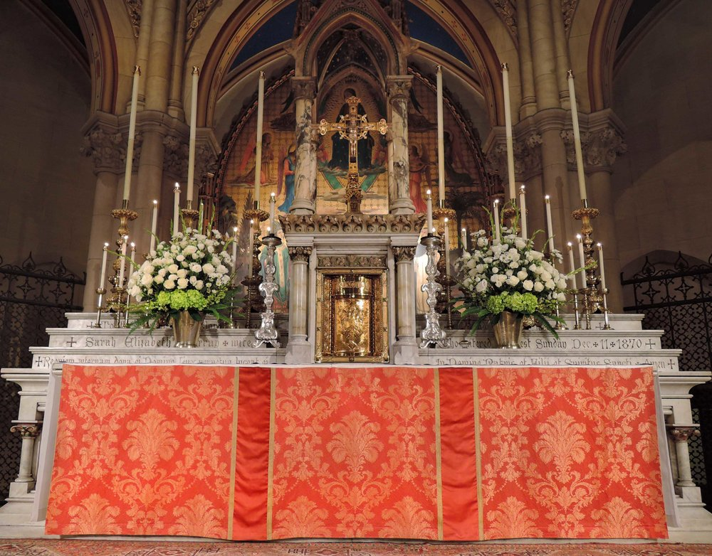 The High Altar on the Eve of the Epiphany     Photo by Sr. Monica Clare, C.S.J.B.