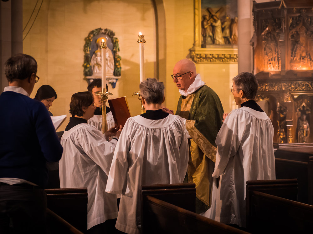 At the beginning of the proclamation of the gospel.   Photo by Ricardo Gomez
