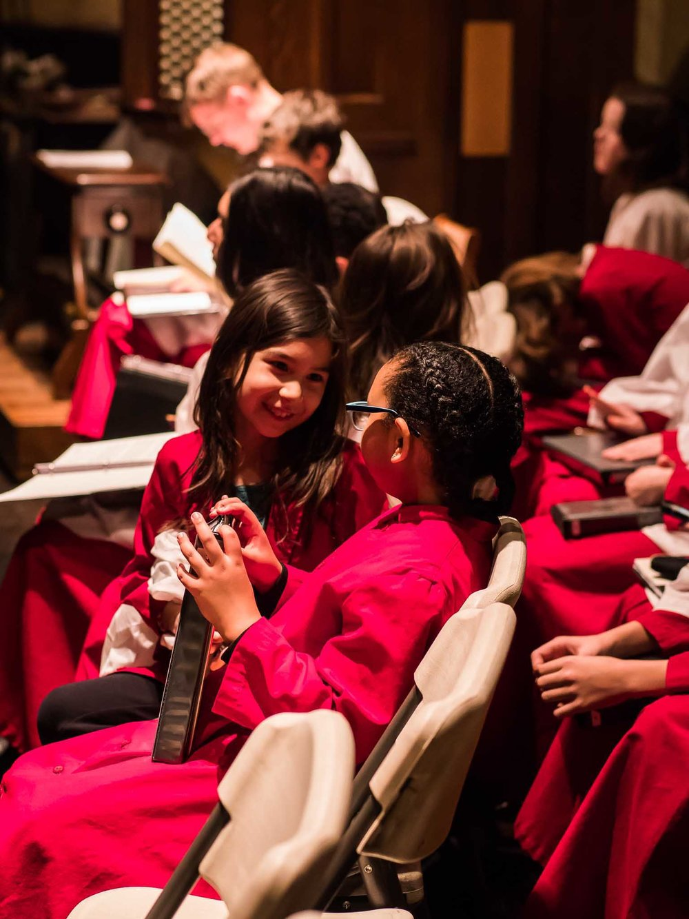 Choristers on Sunday night   Photo by Ricardo Gomez