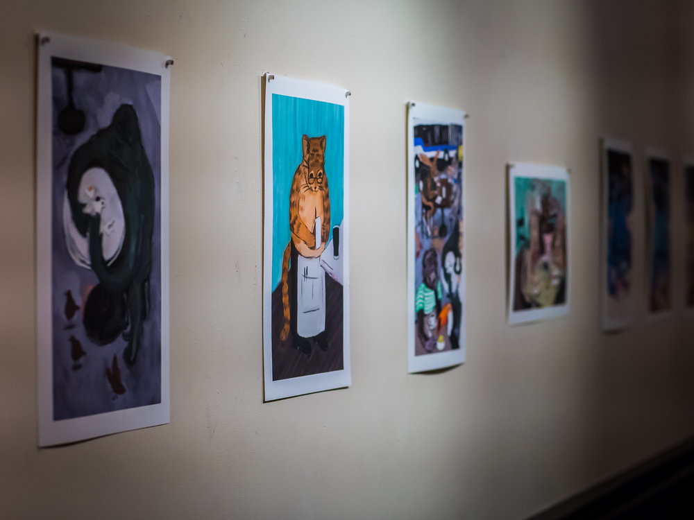 Prints by Matthew Fogarty in the Gallery   Photo by Ricardo Gomez