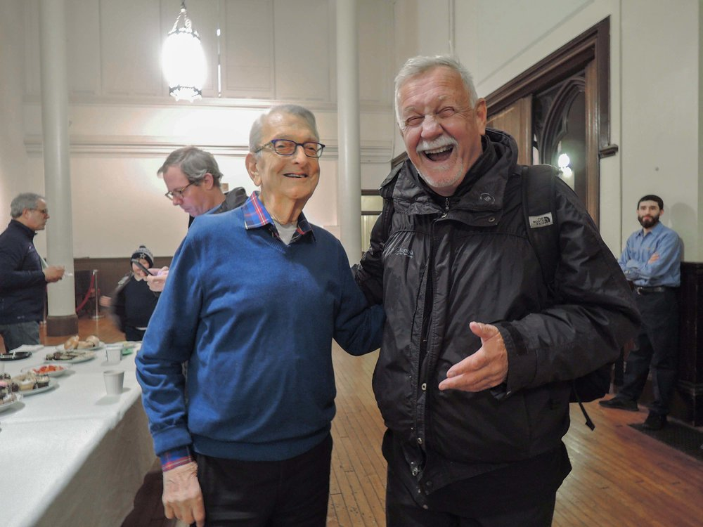 Parishioners Dick Leitsch and Charlie Walsh   at Coffee Hour  Photo by Sister Monica Clare, C.S.J.B.