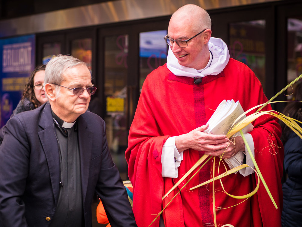 Father David Somerville and the Rector were at the end of the procession.   Photo by Ricardo Gomez