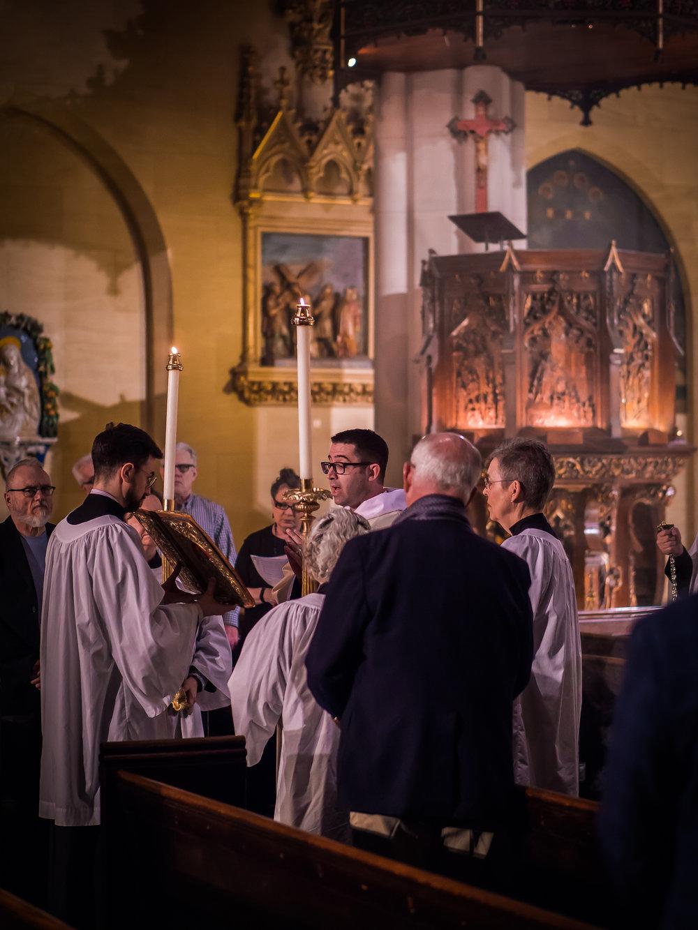 The proclamation of the Gospel.  Photo by Ricardo Gomez