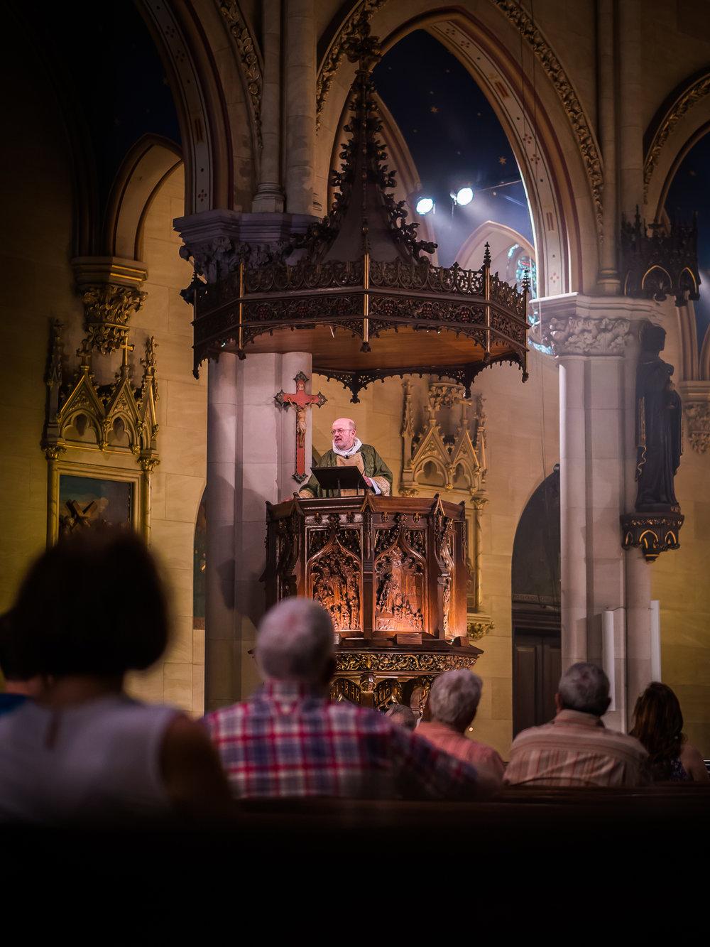 Father Jay Smith was celebrant and preacher.  Photo by Ricardo Gomez