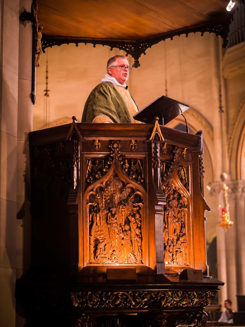 Father Park Bodie was celebrant and preacher for the Solemn Mass on July 1, 2018.    Photo by Ricardo Gomez