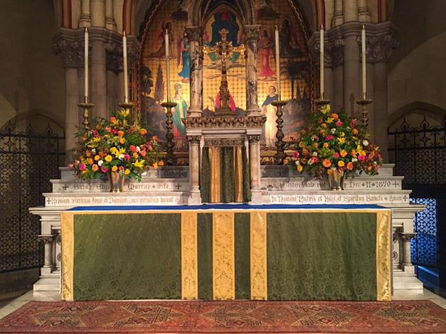 The High Altar on Sunday, July 22, 2018   Photo by Dexter Baksh