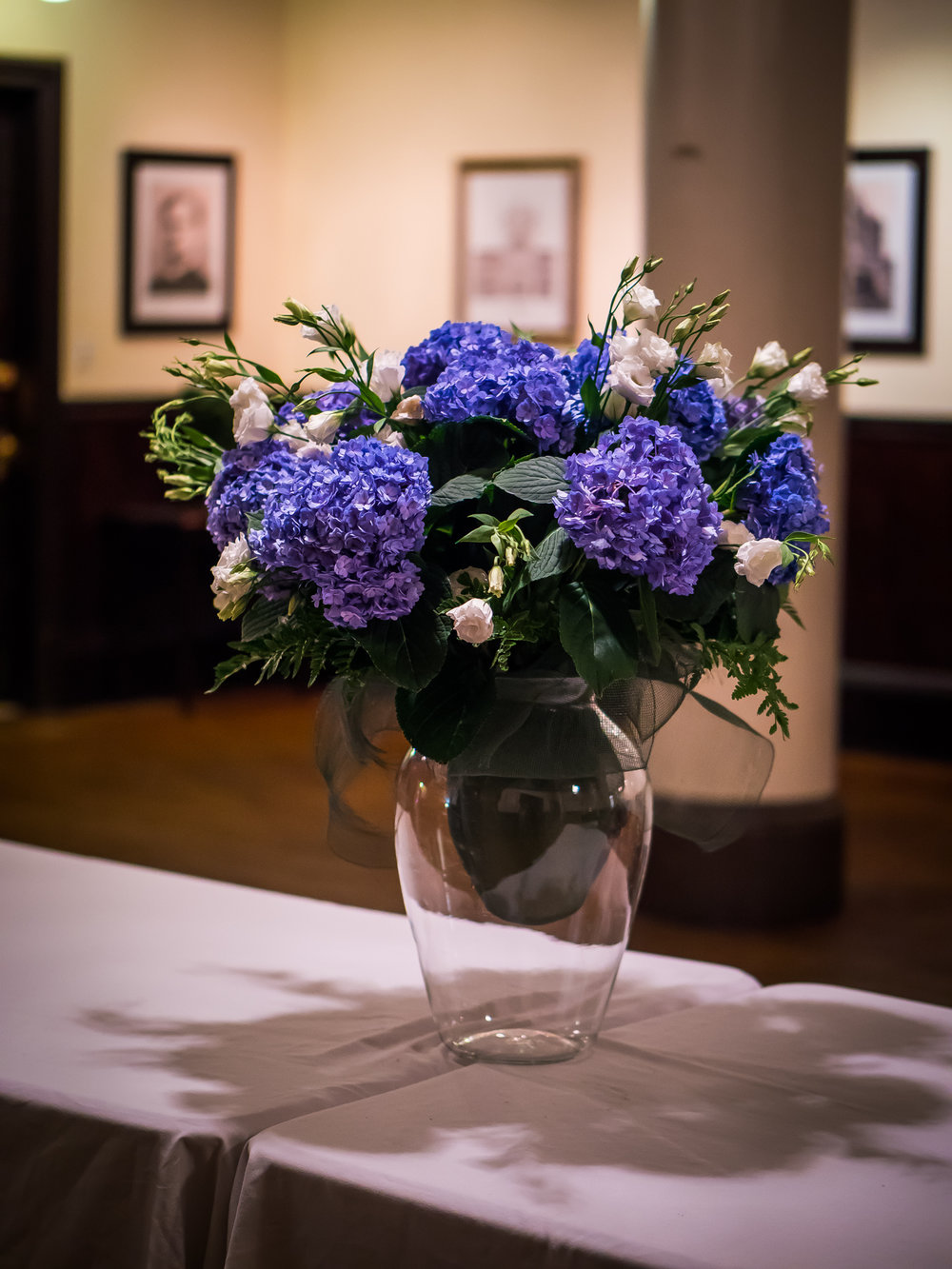 Flowers in Saint Joseph's Hall   Photo by Ricardo Gomez