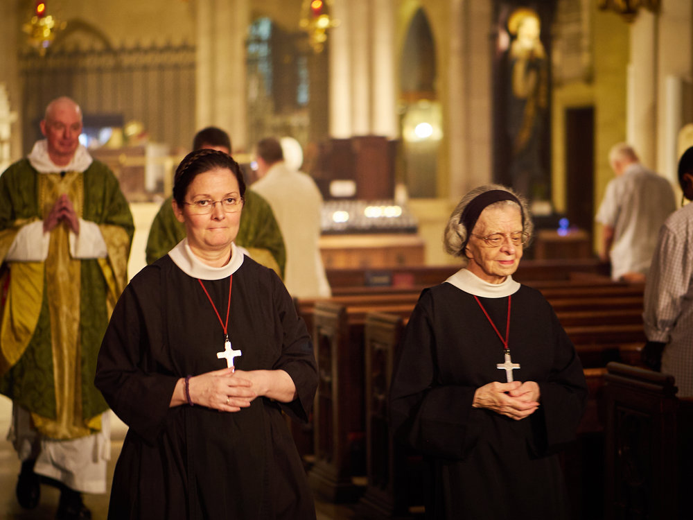 """See you later, not goodbye"": Sister Monica Clare & Sister Laura Katharine  Photo by Ricardo Gomez"