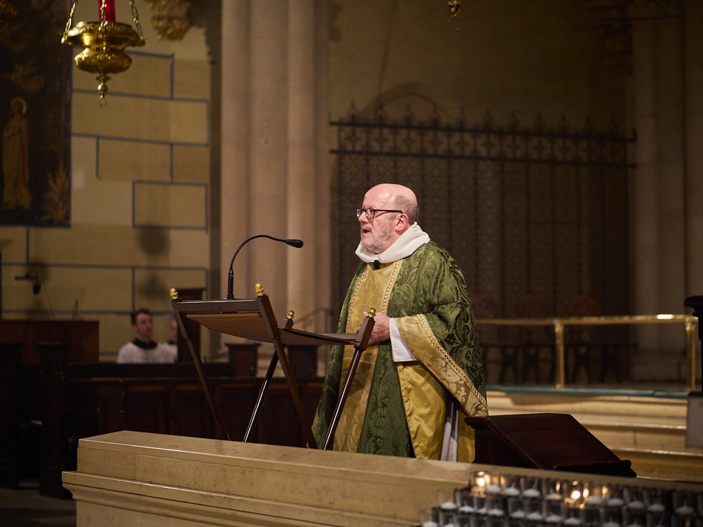 Father Jay Smith was celebrant and preacher.  Photo by Ricardo Gomez