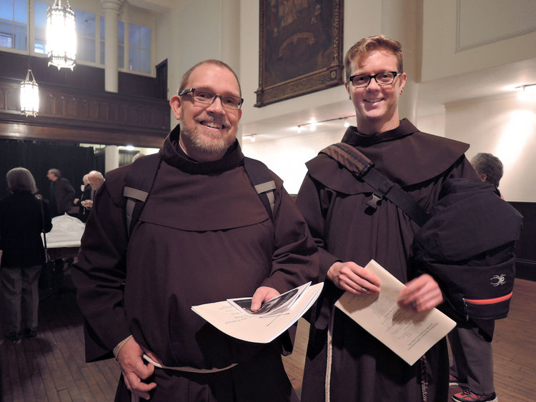 Brother Damien Joseph, SSF (l.) & Brother Thomas, SSF (r.)  Photo by Sister Monica Clare, CSJB
