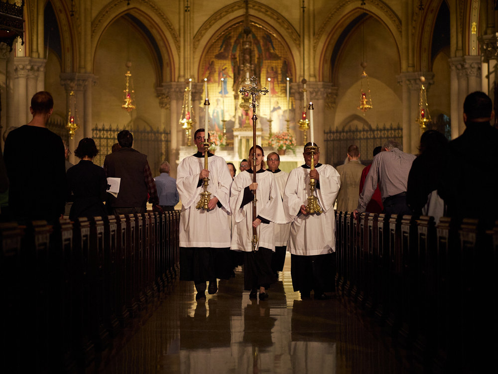 The Retiring Procession, Solemn Mass, Sunday, September 23, 2018.    Photo by Ricardo Gomez