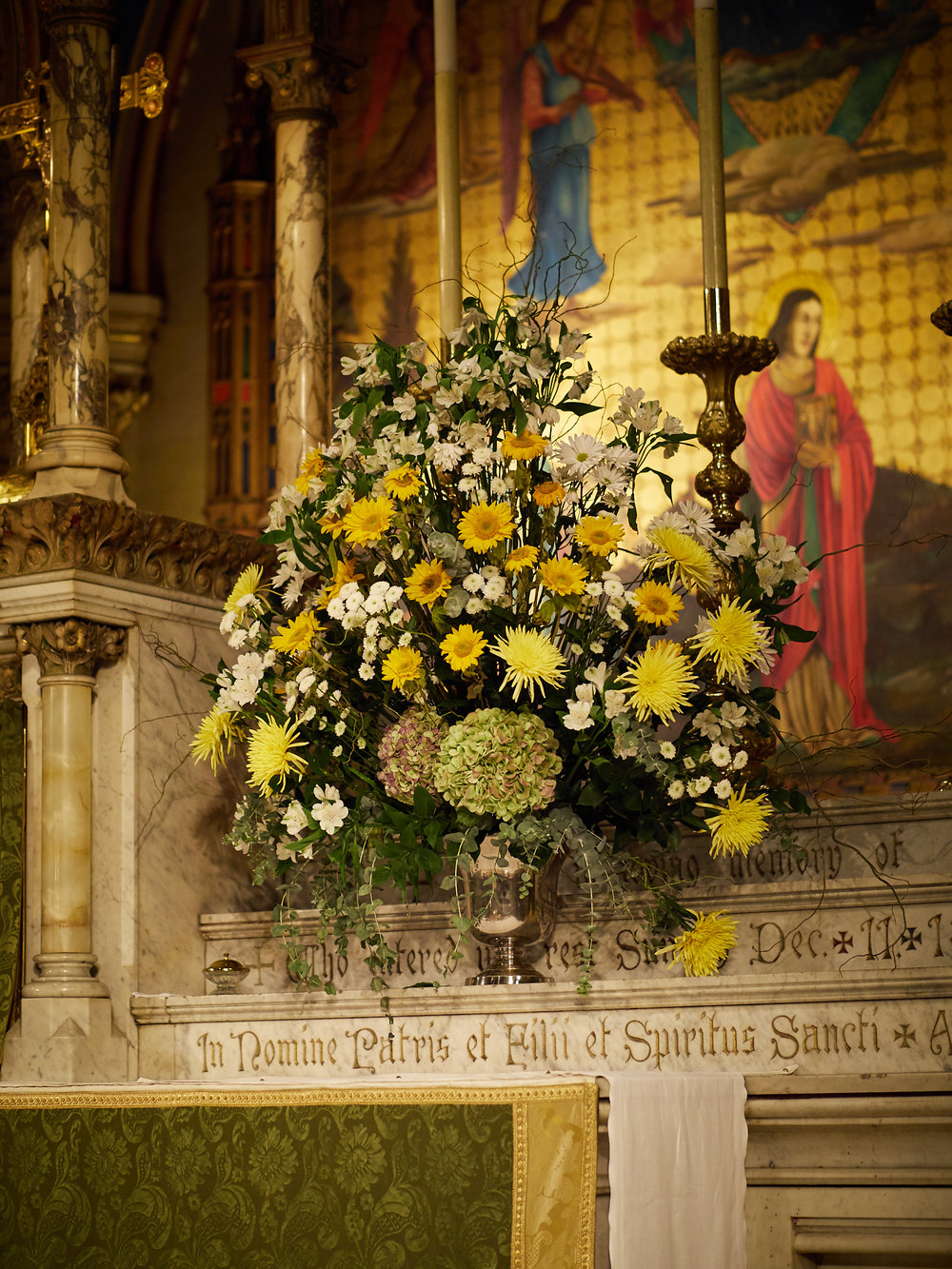 The high altar flowers were given to the glory of God and in thanksgiving for the life and ministry of Donald Lothrop Garfield, priest and vii rector of Saint Mary's.   Photo by Ricardo Gomez
