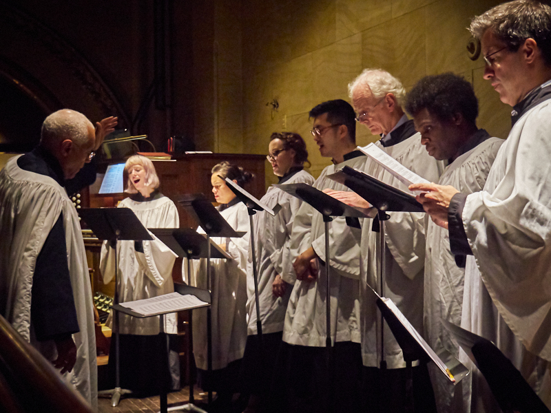 The Choir Season resumed on the first Sunday in October. The choir will sing at all Solemn Masses through Corpus Christi, June 23, 2019.  Photo by Ricard Gomez