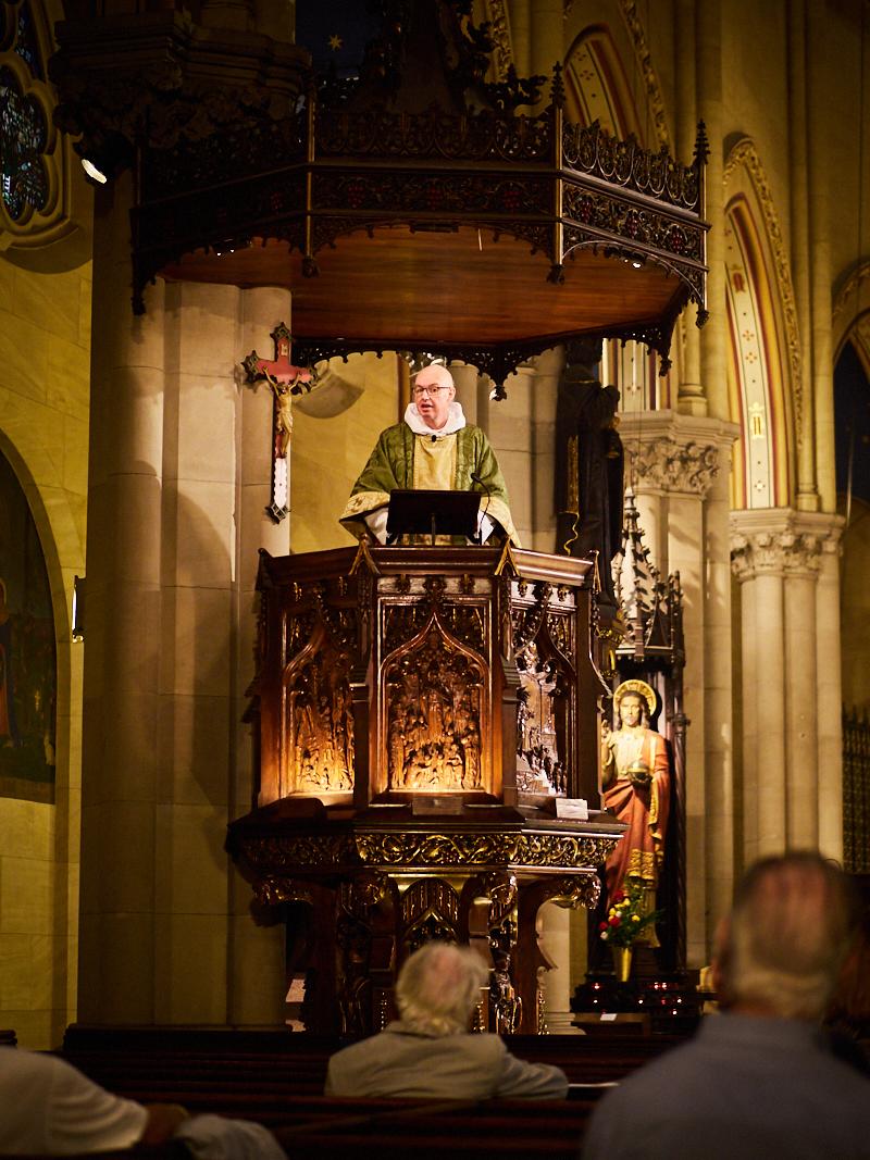 The Rector was celebrant and preacher.  Photo by Ricardo Gomez