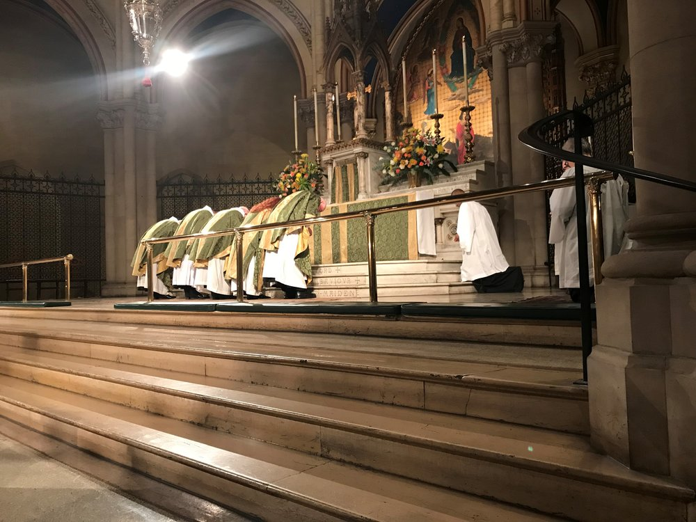 The Confession of Sin, Solemn Mass, Sunday, November 11, 2018   Photo by Br. Damien SSF