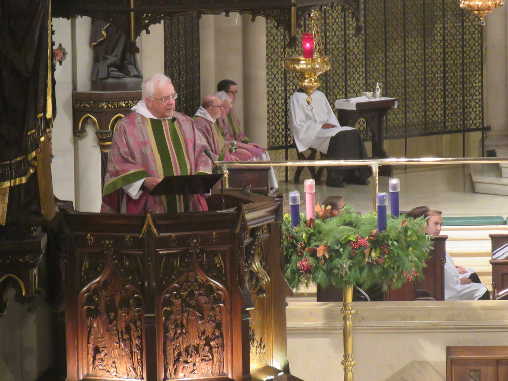 Father Pete Powell was celebrant and preacher for the Solemn Mass on Sunday, December 9, 2018.   Photo by Br. Damien Joseph SSF