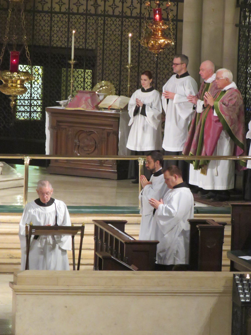 Leroy Sharer led the prayers of the people.   Photo by Br. Damien Joseph SSF