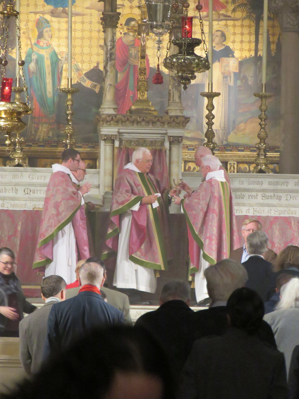 """""""The ministers receive the Sacrament in both kinds, and then immediately deliver it to the people.""""-- The Book of Common Prayer,  365.  Photo by Br. Damien Joseph SSF"""