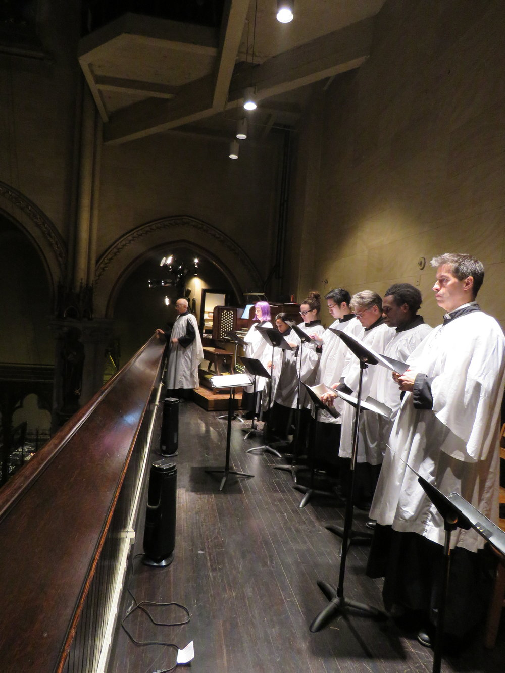 Dr. David Hurd and the parish choir.   Photo by Br. Damien Joseph SSF