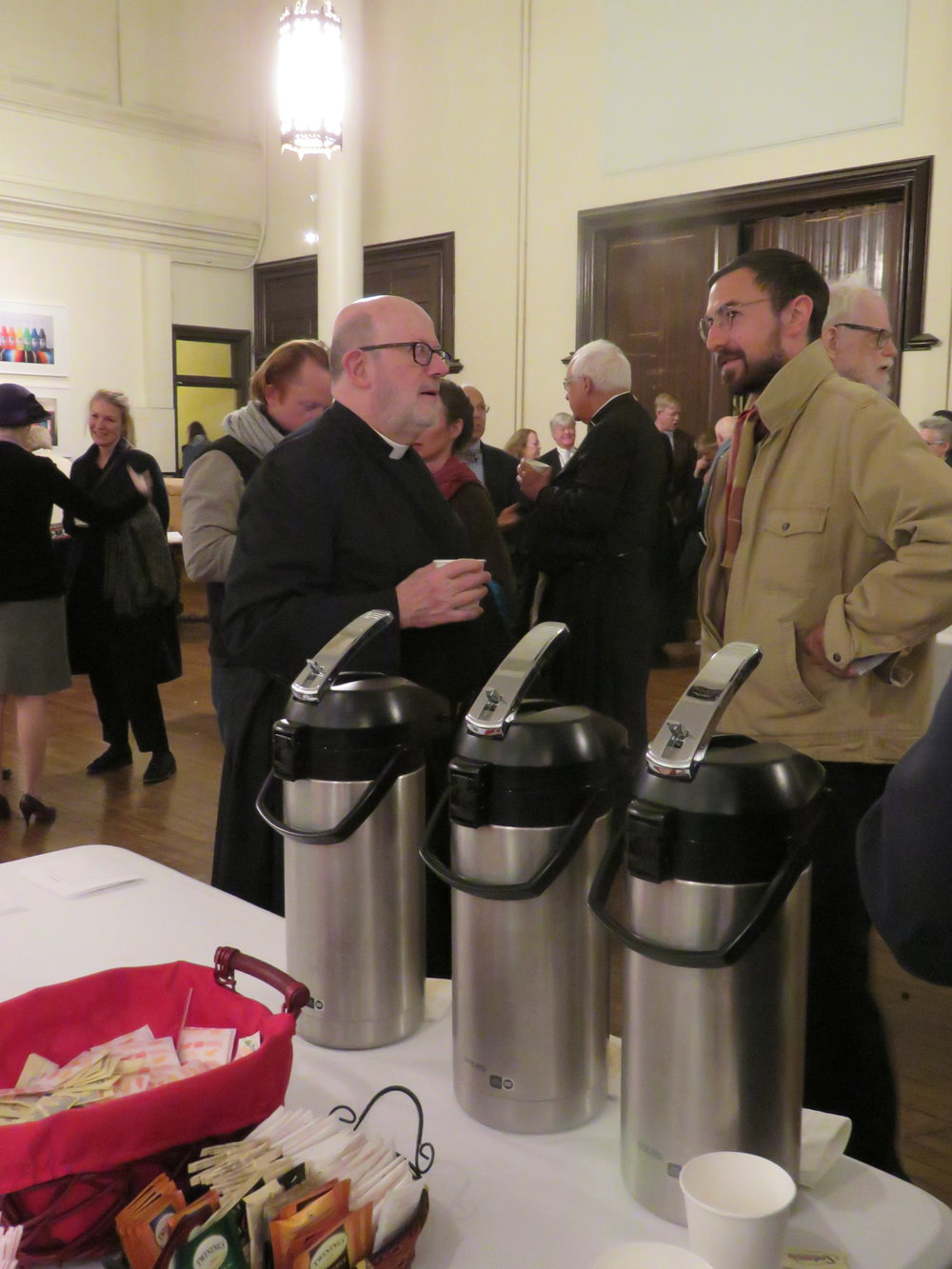 Fr. Jay Smith and Peter Ruane at Coffee Hour following the Solemn Mass.   Photo by Br. Damien Joseph SSF
