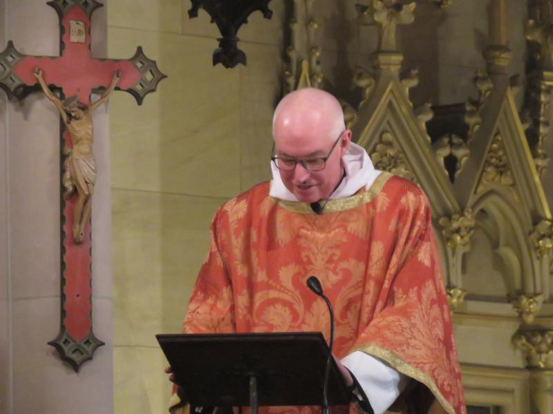 The rector was celebrant and preacher for the Christmas Eve Eucharists.   Photo by Br. Damien Joseph SSF
