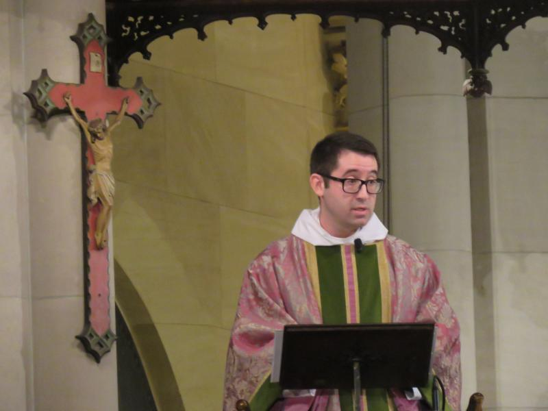 Father Matt Jacobson was celebrant and preacher for the Solemn Mass on the Fourth Sunday of Advent.   Photo by Br. Damien Joseph SSF