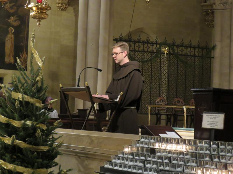 Br. Thomas SSF was epistler.  Photo by Br. Damien Francis SSF