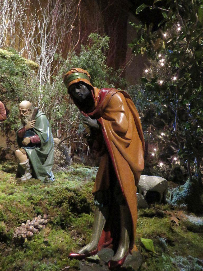 Saint Mary's Creche at Epiphany: Though St. Matthew does not name the Magi, this wise man, or magus, came to be known, in the West, as Balthasar, by around the 8th c.  Photo: Br. Damien Joseph SSF