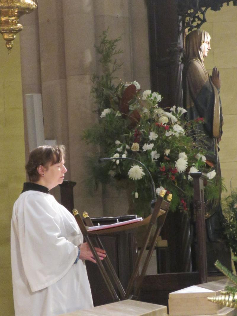 Marie Postlewate chanted the Prayers of the People at Mass on Epiphany.  Photo: Br. Damien Joseph SSF
