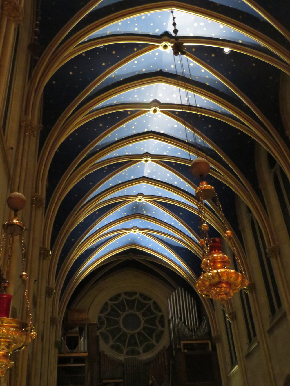 New lighting for the nave and the chancel debuted last Sunday. This Sunday will be even better now that the settings have been adjusted.  Photo by Br. Damien Joseph, SSF